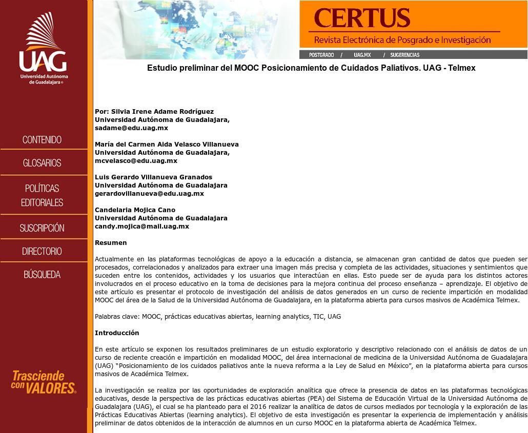 Estudio preliminar del MOOC Posicionamiento de Cuidados Paliativos