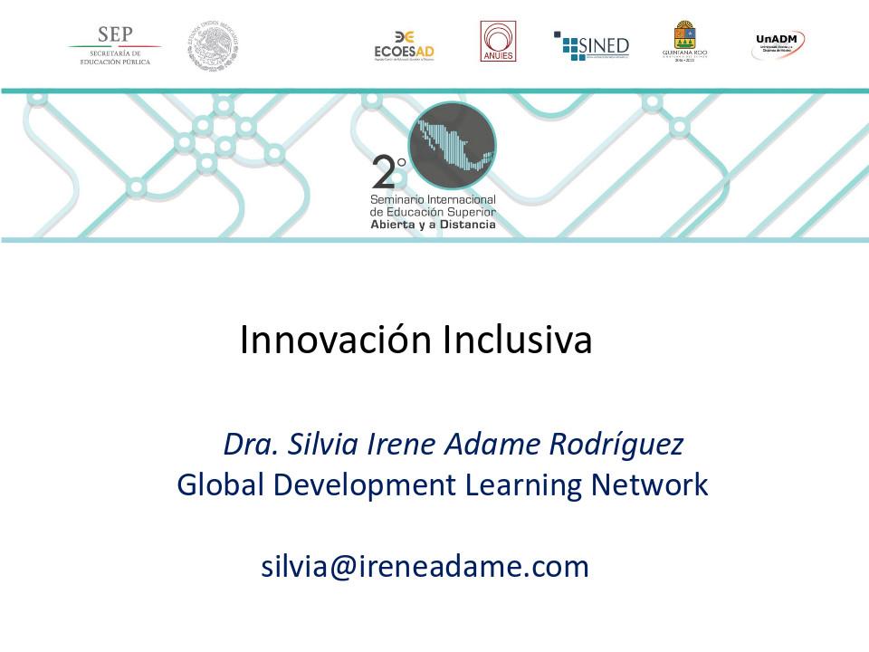 Innovación Inclusiva, Seminario Intenacional de educación abierta y a distancia
